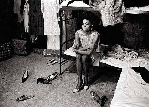 Diana Ross backstage at the Apollo Theatre, 1965. From Harlem: A Century of Images.