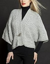 Kimono-cardigan in alpaca-blend Karabella Aeros ($60).