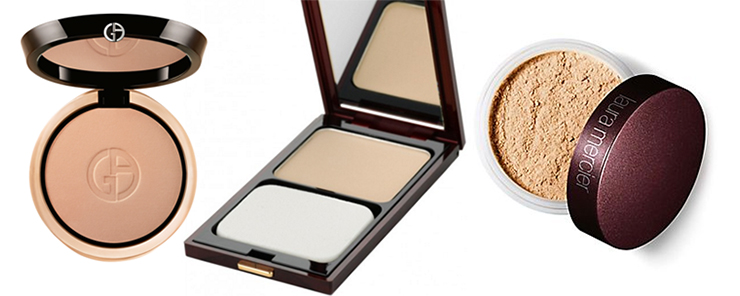 Makeup for mature faces: Powder