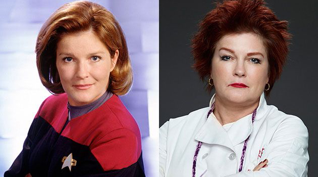 "Kate Mulgrew as Captain Kathryn Janeway in ""Star Trek: Voyager"" and as Galina 'Red' Reznikov in ""Orange is the New Black."""