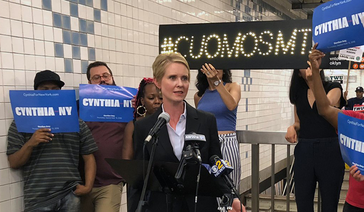 Cynthia Nixon Subway