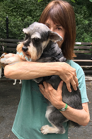 Ellen Stern and Murphy the Schnauzer