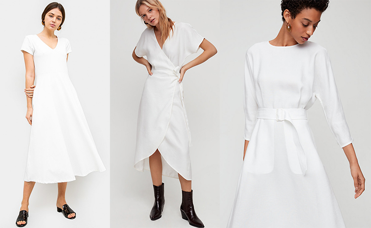 973dc1afc2d1 You'll get a lot of mileage out of this Romily Tee Midi Dress in  cotton/spandex blend with a V-neck, short sleeves and flared skirt.